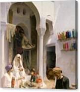 An Arab Weaver Canvas Print