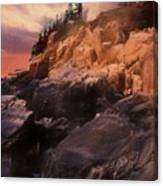 An Art Photograph Of  Bass Harbor Lighthouse,acadia Nat. Park Ma Canvas Print