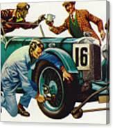 An Aston Martin Racing Car, Vintage 1932 Canvas Print