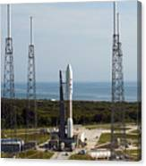 An Atlas V-551 Launch Vehicle At Cape Canvas Print