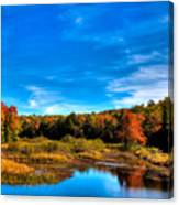 An Autumn Day At The Green Bridge Canvas Print