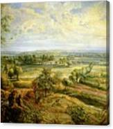 An Autumn Landscape With A View Of Het Steen In The Early Morning Canvas Print