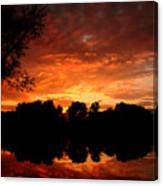 An Awesome Sunset  Canvas Print