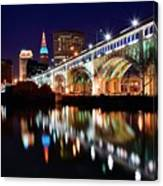 An Early Evening In Cleveland Canvas Print