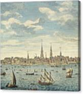 An East Prospective View Of The City Of Philadelphia Canvas Print