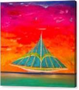 An Emerald Sail Canvas Print