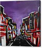 An Empty Street At 3 A.m. Canvas Print
