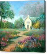 An English Walk Canvas Print