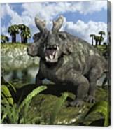 An Estemmenosuchus Mirabilis Stands Canvas Print