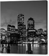 An Evening In Boston Canvas Print