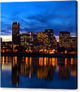 An Evening In Portland Canvas Print