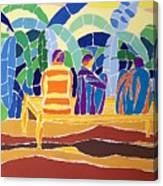 An Evening Near The Banana Plantation Canvas Print