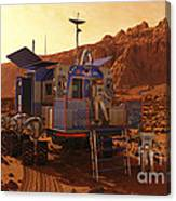 An Explorer Departs A Manned Rover Ina Canvas Print