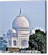 An Extraordinary View - The Taj Mahal Canvas Print