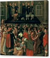 An Eyewitness Representation Of The Execution Of King Charles I Canvas Print