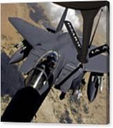 An F-15 Strike Eagle Prepares Canvas Print