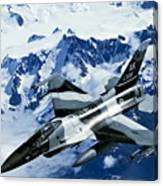 An F-15c Falcon From The 18th Aggressor Canvas Print
