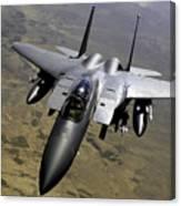 An F-15e Strike Eagle Aircraft Canvas Print