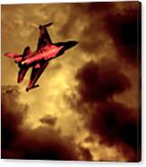An F-16 Flies Through Hell Canvas Print