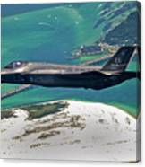 An F-35 Lightning II Flies Over Destin Canvas Print