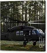 An Hh-60 Pave Hawk Evacuates Injured Canvas Print