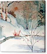 An Icy Winter Canvas Print