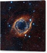 A Look In Infrared At The Helix Nebula Canvas Print