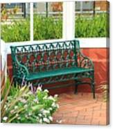 An Inviting Bench Canvas Print