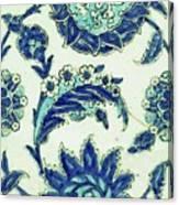 An Iznik Blue And White Pottery Tile, Turkey, 17th Century, By Adam Asar, No 18b Canvas Print
