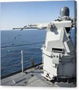 An Mk-38 Machine Gun System Aboard Uss Canvas Print