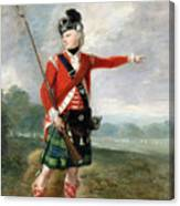 An Officer Of The Light Company Of The 73rd Highlanders Canvas Print