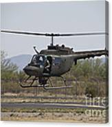 An Oh-58 Kiowa Helicopter Of The U.s Canvas Print