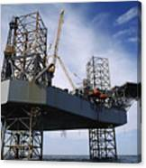 An Oil And Gas Drilling Platform Canvas Print
