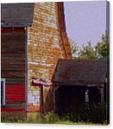 An Old Barn And Silo Canvas Print