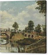 An Old Bridge At Hendon Canvas Print