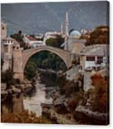 An Old Bridge In Mostar Canvas Print