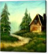 An Old Cabin In The Wild Canvas Print