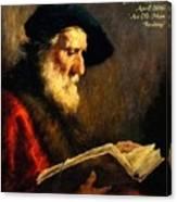 An Old Man Reading P A Canvas Print
