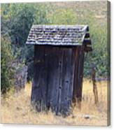 An Old Outhouse  Canvas Print