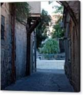 An Old Street In Jerusaem Canvas Print
