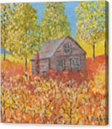 An Old Abandoned Tenant House Canvas Print