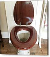 An Old Toilet Canvas Print