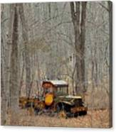 An Old Truck In The Woods. Canvas Print