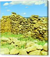 An Old Wall At The Pecos Ruins Canvas Print