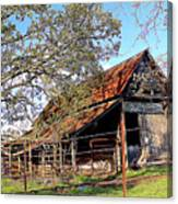 An Old Weathered Barn Canvas Print