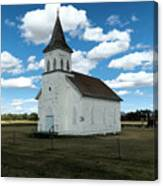 An Old Wooden Church Canvas Print