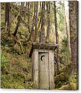 An Outhouse In A Moss Covered Forest Canvas Print