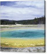 An Upper Geyser Basin At Chromatic Canvas Print