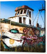 An Wooden Old Ship 2 Canvas Print