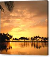 Anaehoomalu Bay Sunset Canvas Print